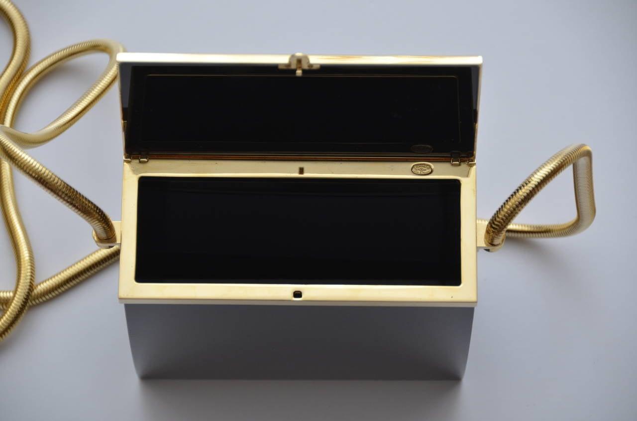 Rare Chanel Black Lucite  Mini Handbag 3
