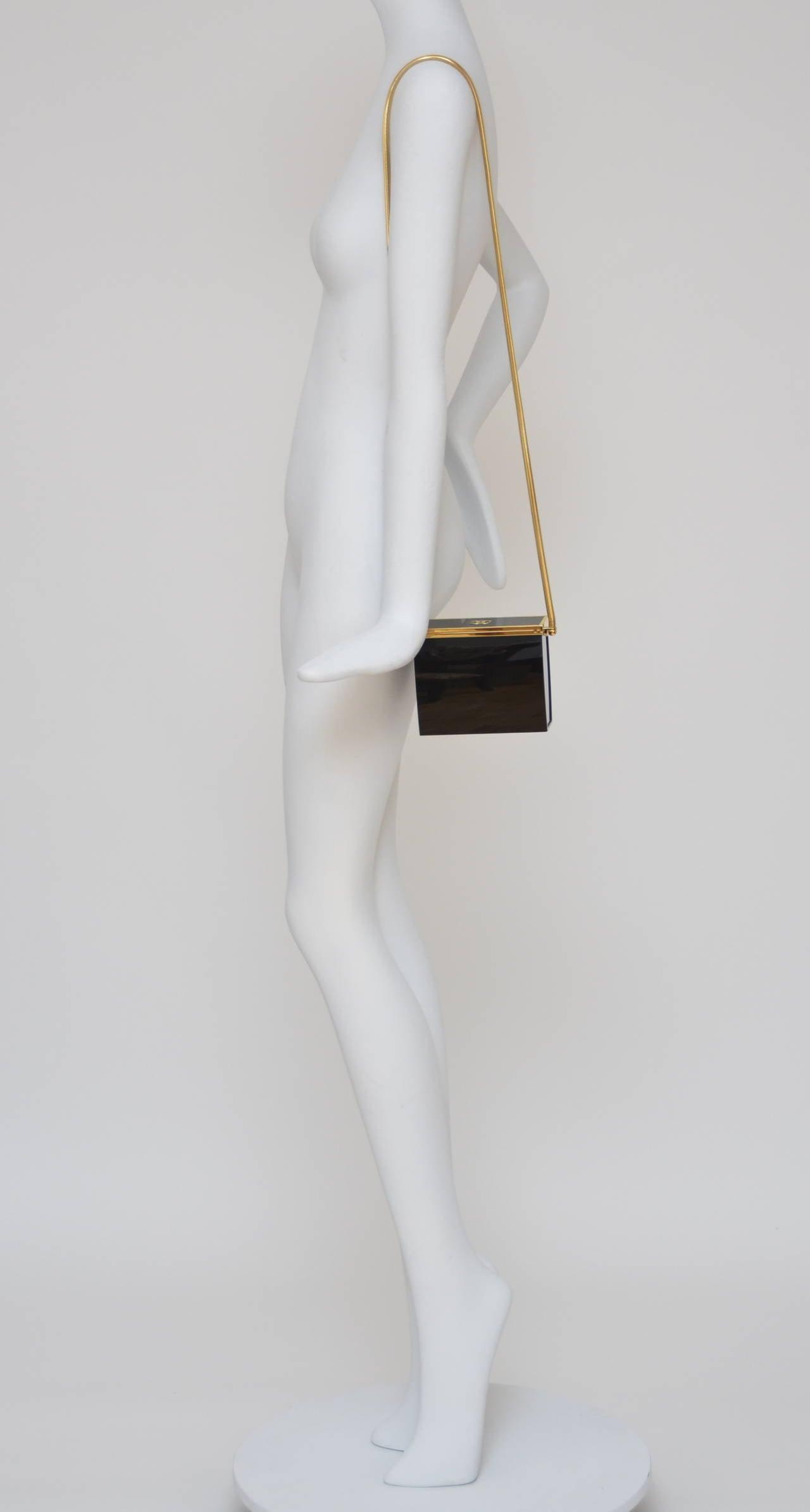 Rare Chanel Black Lucite  Mini Handbag 7