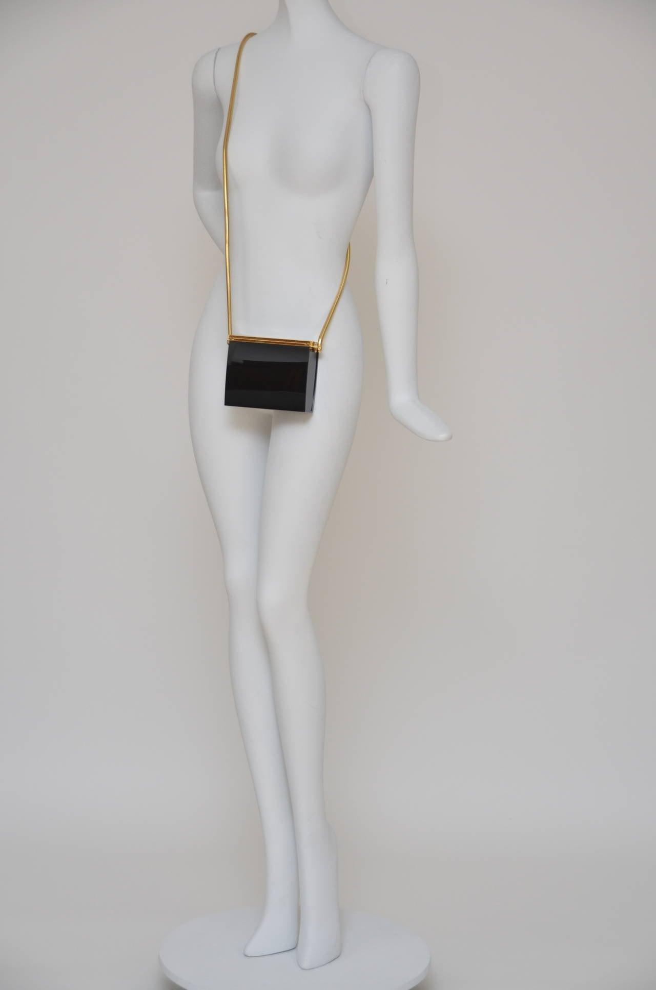 Rare Chanel Black Lucite  Mini Handbag 8