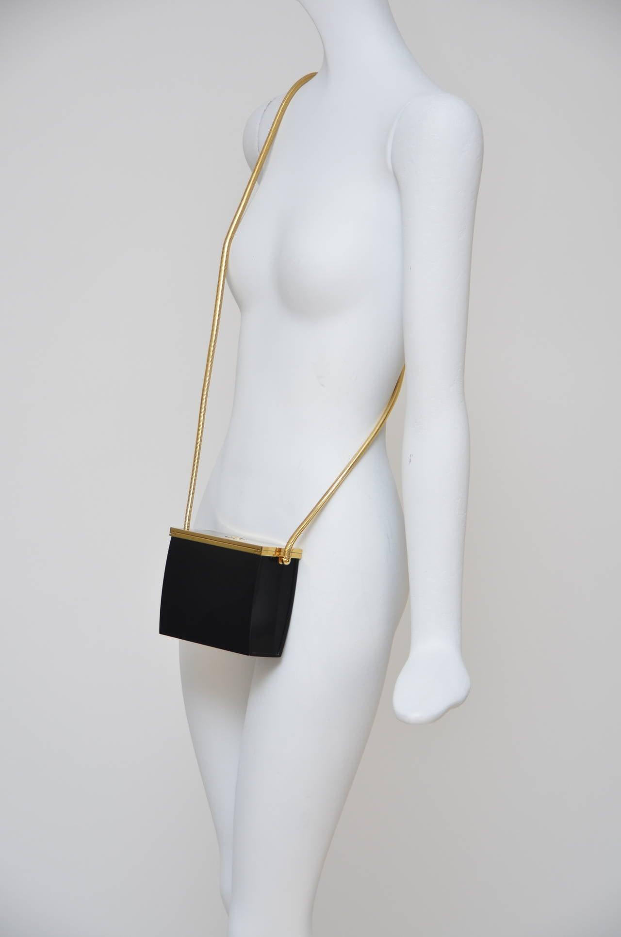 Rare Chanel Black Lucite  Mini Handbag 9
