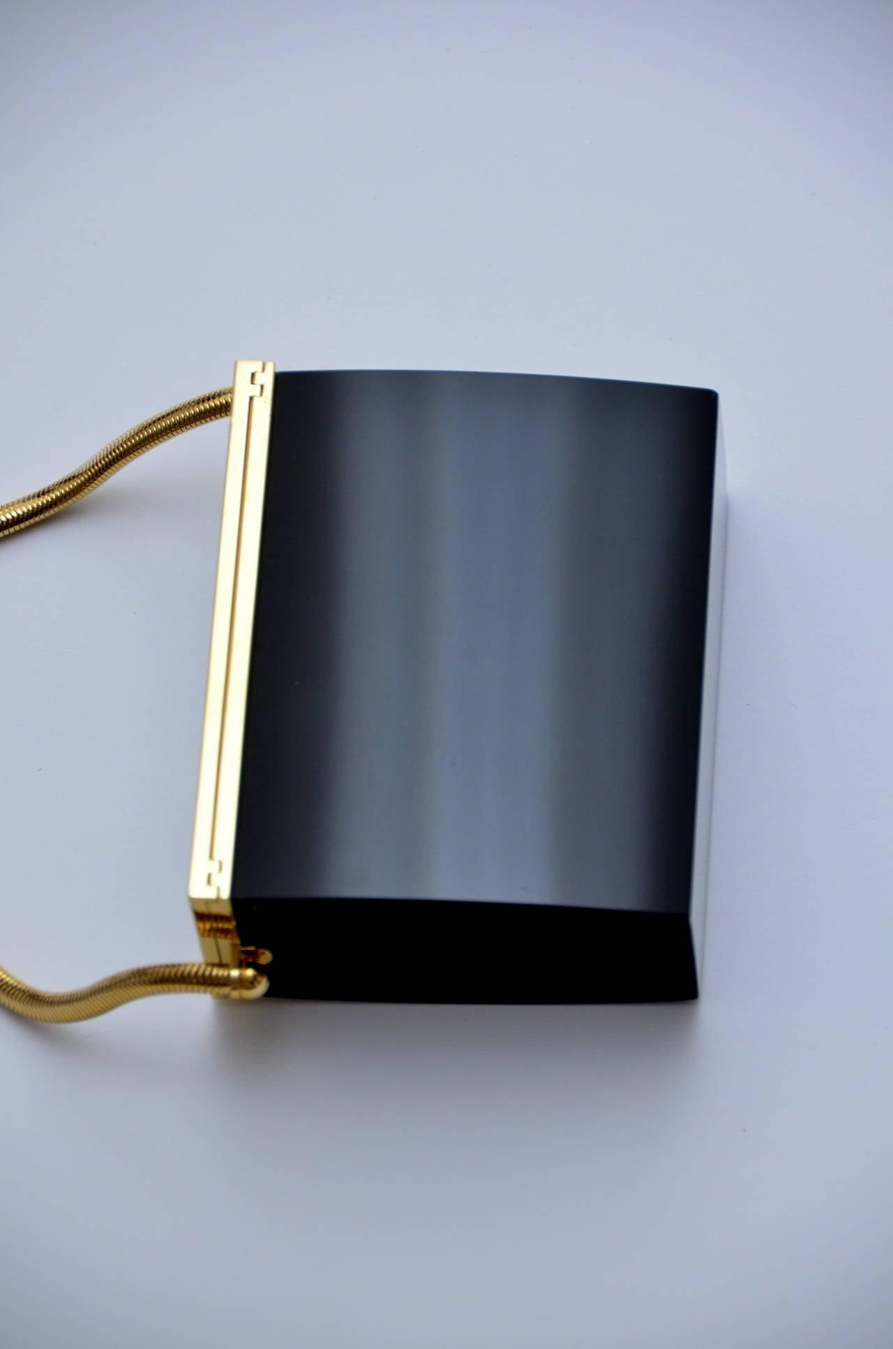 Rare Chanel Black Lucite  Mini Handbag 5