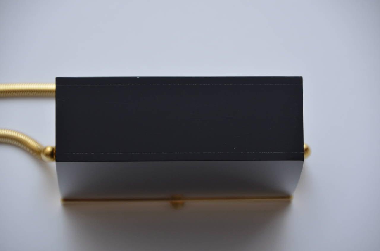 Rare Chanel Black Lucite  Mini Handbag 6
