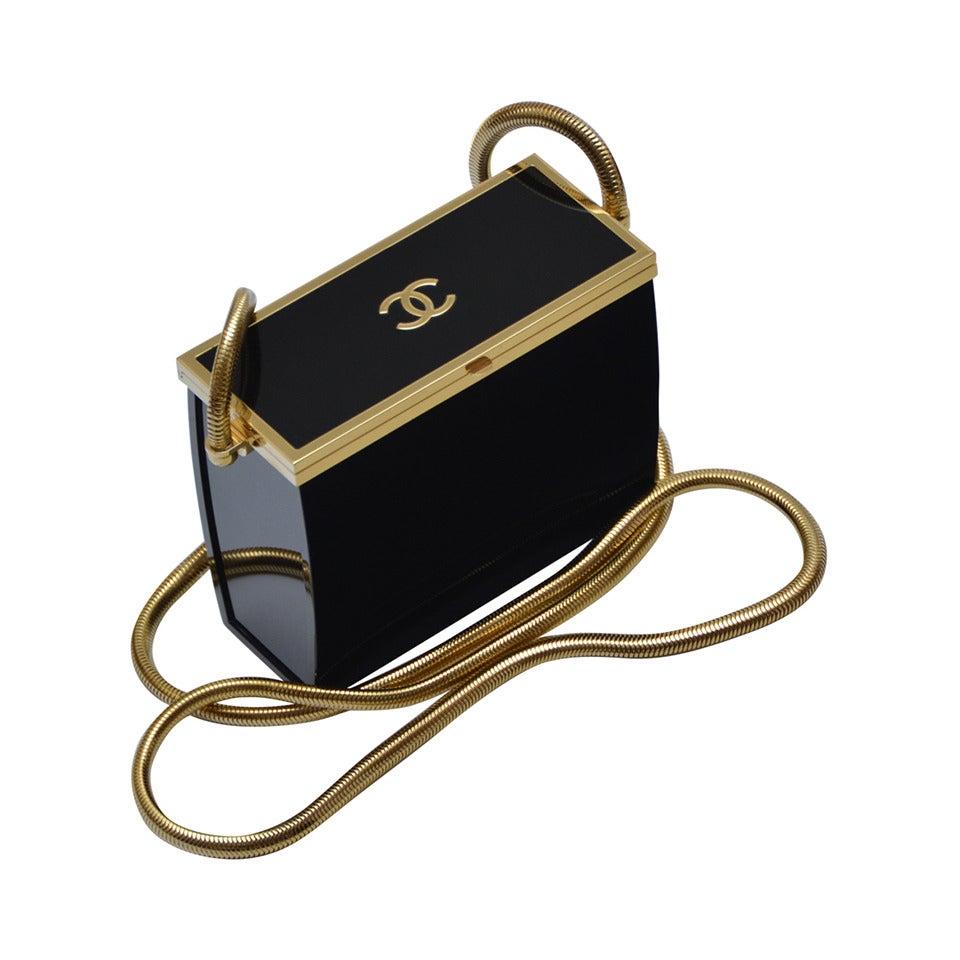 Rare Chanel Black Lucite  Mini Handbag 1
