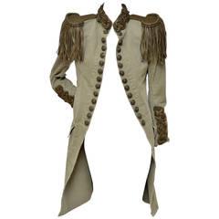 Balmain Runway Chain-Epaulet Military Style Jacket  Christophe D. 2010 New  40