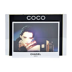 Coco Chanel Perfume Advertisement Large Sign Featuring Ines De La Fressange 1985