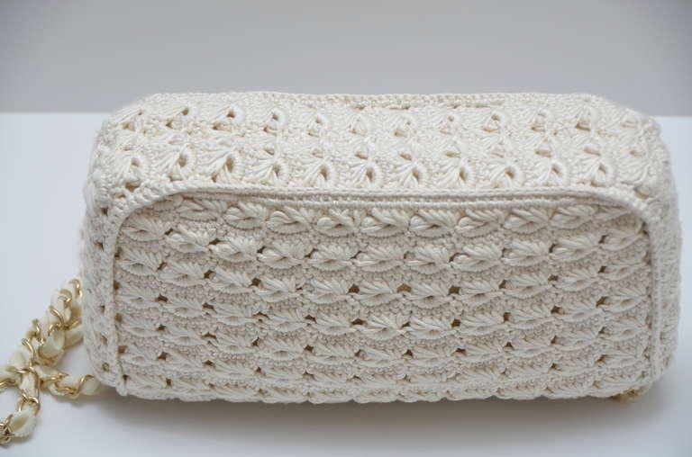 Crochet Summer Bag : Chanel Crochet Runway Summer Handbag 2010 Collection at 1stdibs