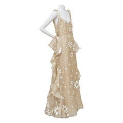VALENTINO Resort 2011 Organza Silk  Romantic Daisy Dress NEW