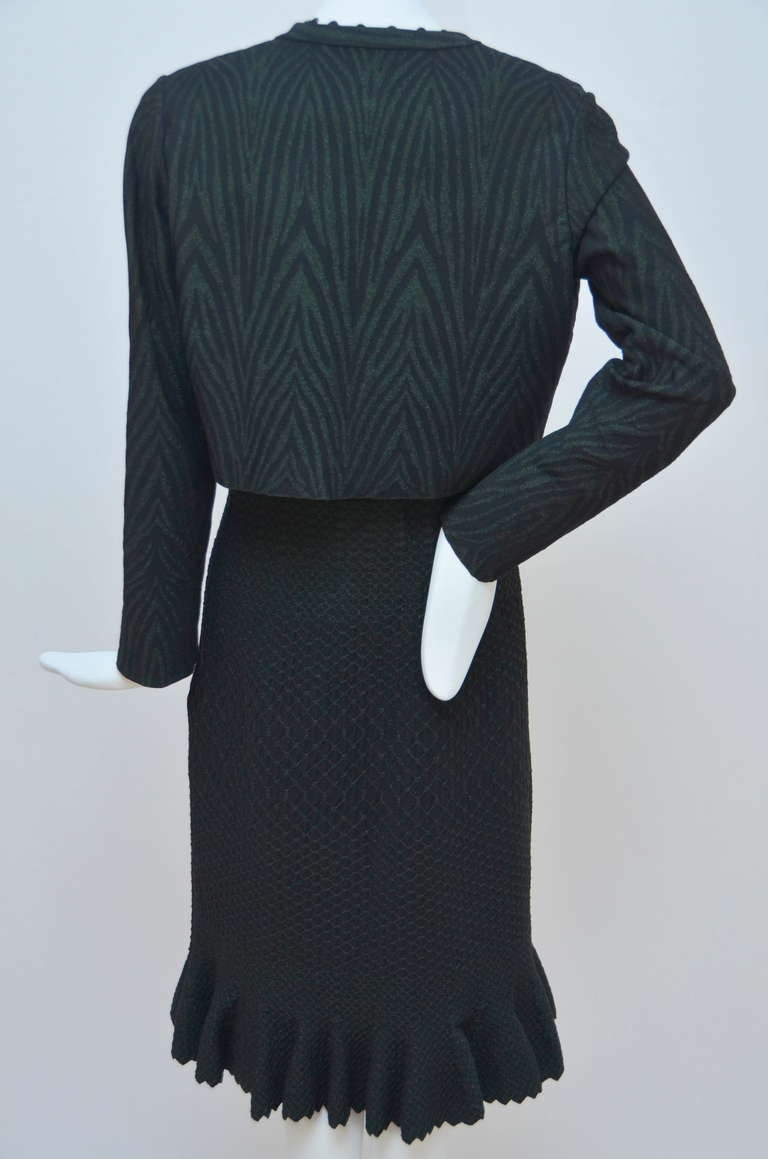 Azzedine Alaia Crocodile Luxe  Dress  With Matching  Cardigan 2
