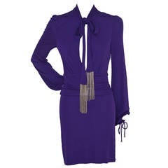 Tom Ford For Gucci Purple Runway Dress XS  New