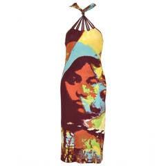 Iconic Jean Paul Gaultier  Pop Art Face Print  Femme  Dress
