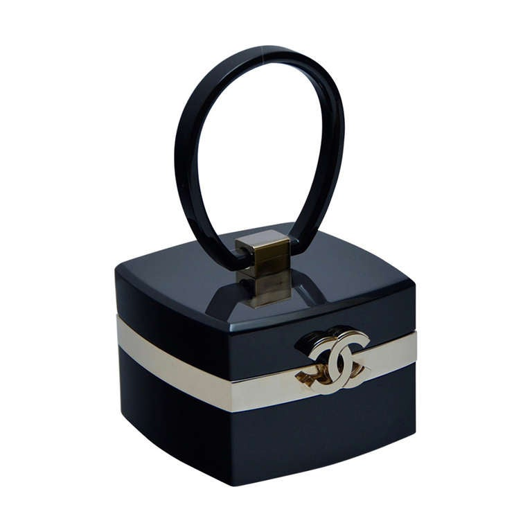 3b1f8bbba458 Chanel Rare Lucite Mini Handbag 04  Collection As Seen In