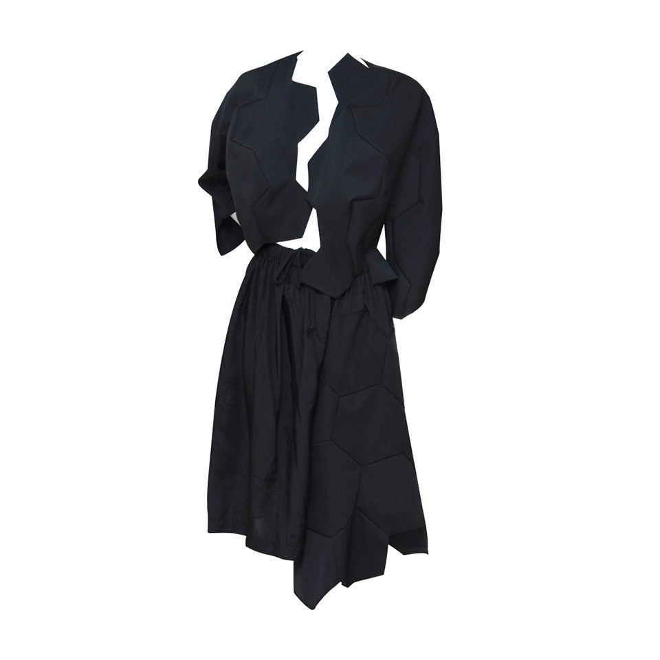 Comme Des Garcons Football Soccer Set Runway Jacket  and Skirt Ad 2008 For Sale