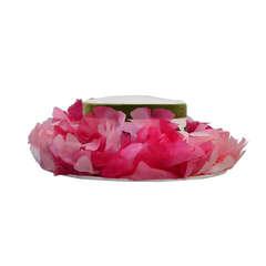Vintage Elsa Schiaparelli Flower  Straw Hat with Original Hot Pink Hat Box