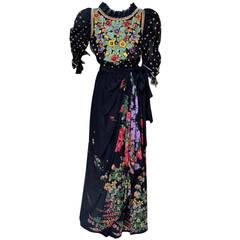 Amazing Tiziani Couture Hand Beaded Dress