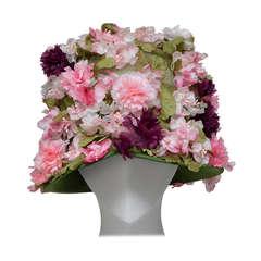 Vintage Elsa Schiaparelli Flower Fedora Style  Hat