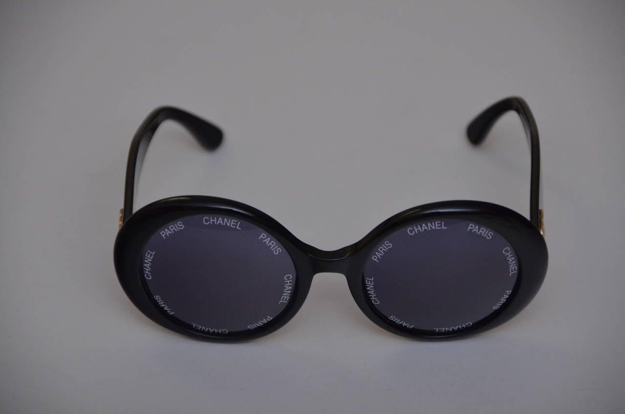 "Chanel Vintage Rare  ""CHANEL PARIS"" Sunglasses As Seen On Rihana  MINT 5"