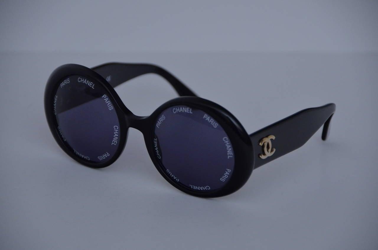 "Chanel Vintage Rare  ""CHANEL PARIS"" Sunglasses As Seen On Rihana  MINT 3"