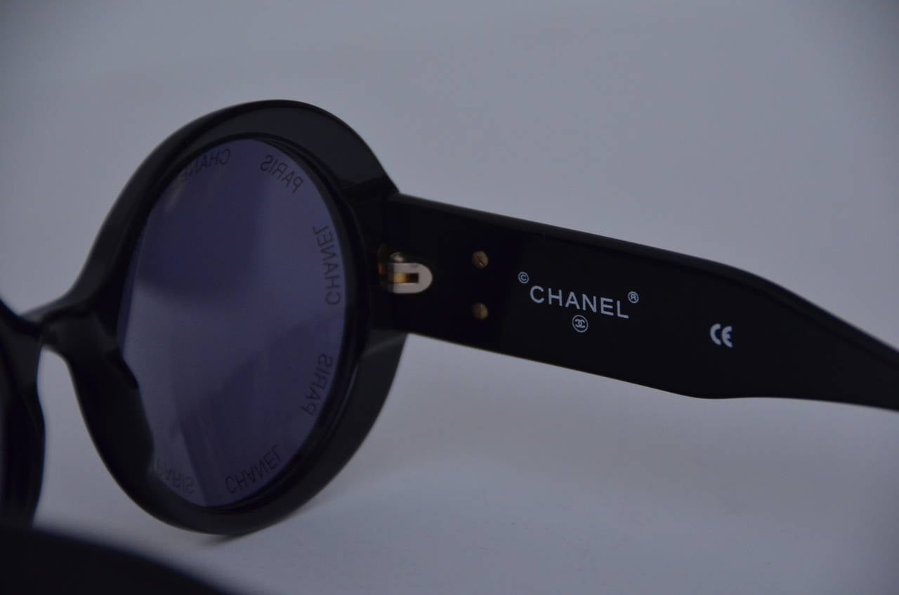 "Chanel Vintage Rare  ""CHANEL PARIS"" Sunglasses As Seen On Rihana  MINT 6"