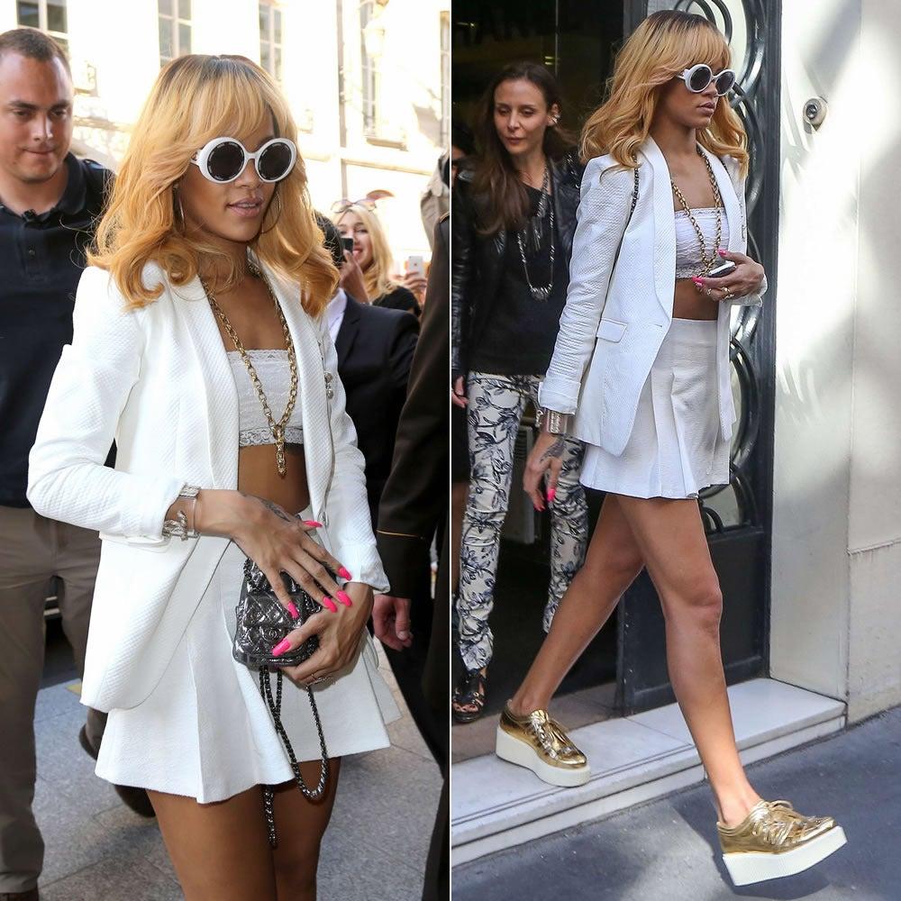 "Chanel Vintage Rare  ""CHANEL PARIS"" Sunglasses As Seen On Rihana  MINT 2"