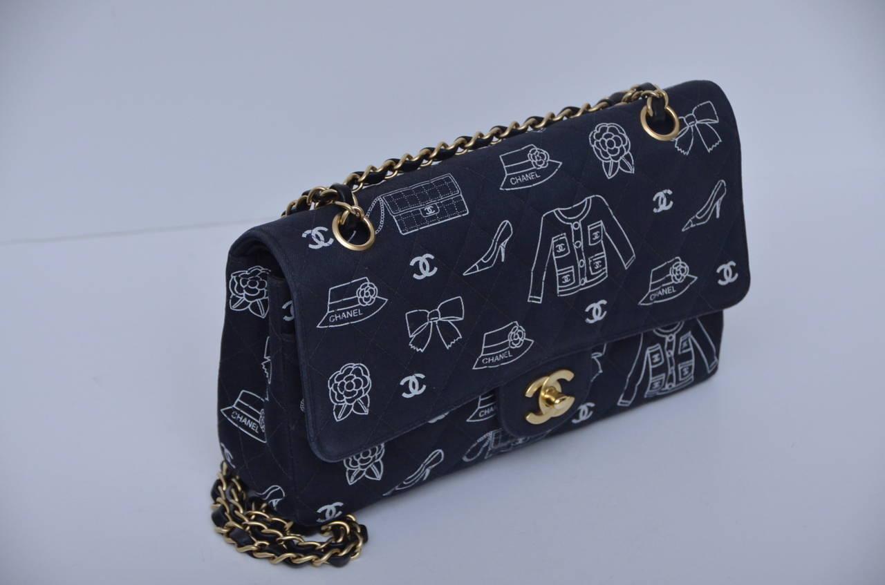 Chanel turn lock handbag with famous Chanel symbols as jacket,shoe ,handbag  and cc s. Chanel Iconic Symbols Double Flap Handbag In ... 20fa59626c