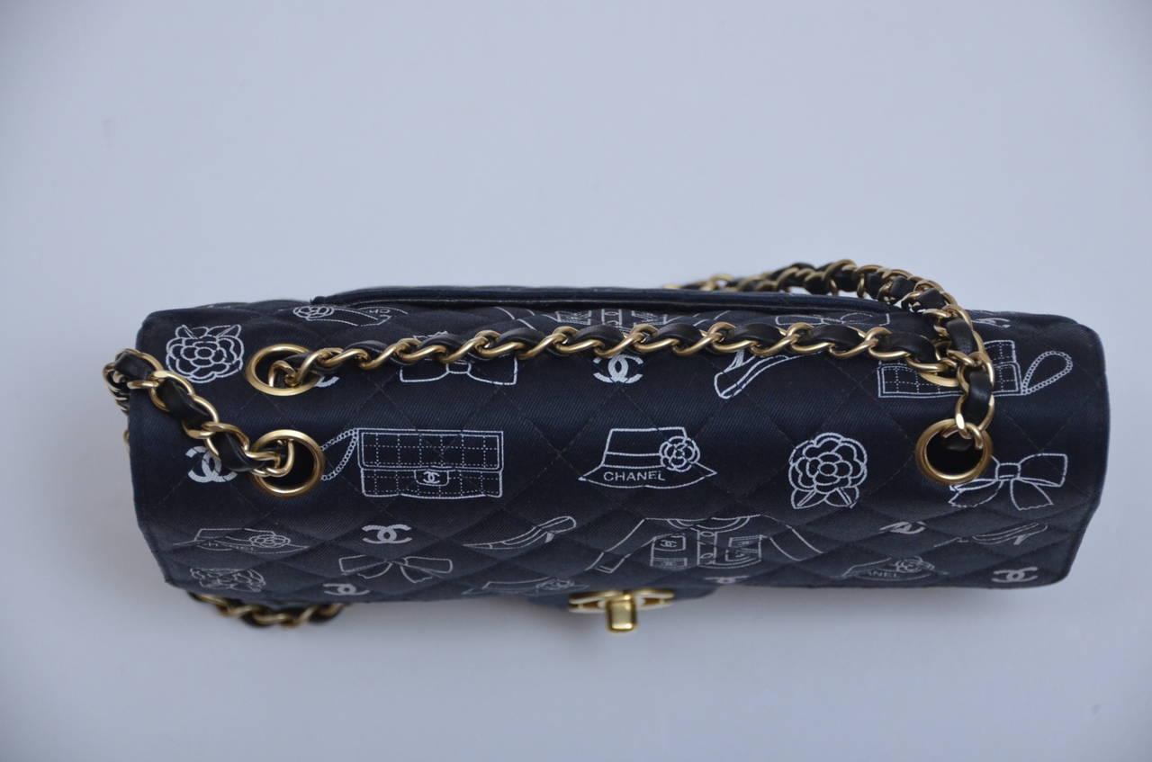 Chanel Iconic Symbols Double Flap Handbag at 1stdibs 1945dbd0e5