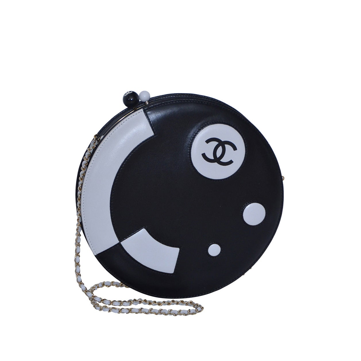 Chanel Rare Circle Vintage Handbag  Mint