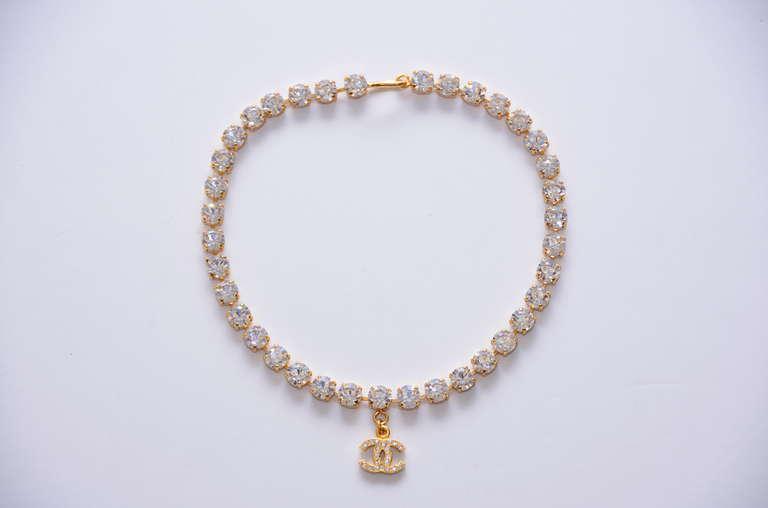 Chanel Rare  Rhinestone '97 Necklace Choker  Mint Condition 2