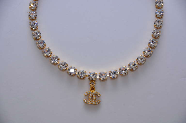 Chanel Rare  Rhinestone '97 Necklace Choker  Mint Condition 5