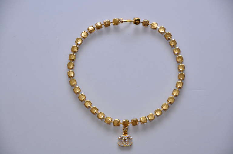 Chanel Rare  Rhinestone '97 Necklace Choker  Mint Condition 3