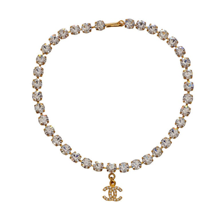 Chanel Rare  Rhinestone '97 Necklace Choker  Mint Condition 1