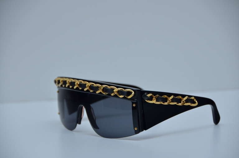 Chanel Vintage Mint Condition Sunglasses As Seen On Lady Gaga 1990's 2