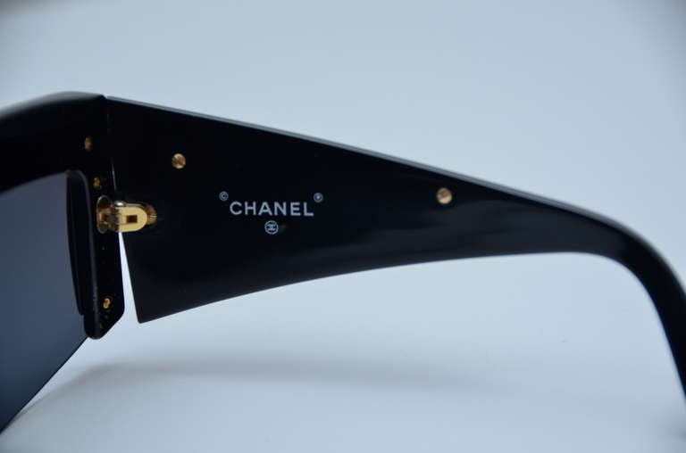 Chanel Vintage Mint Condition Sunglasses As Seen On Lady Gaga 1990's 4