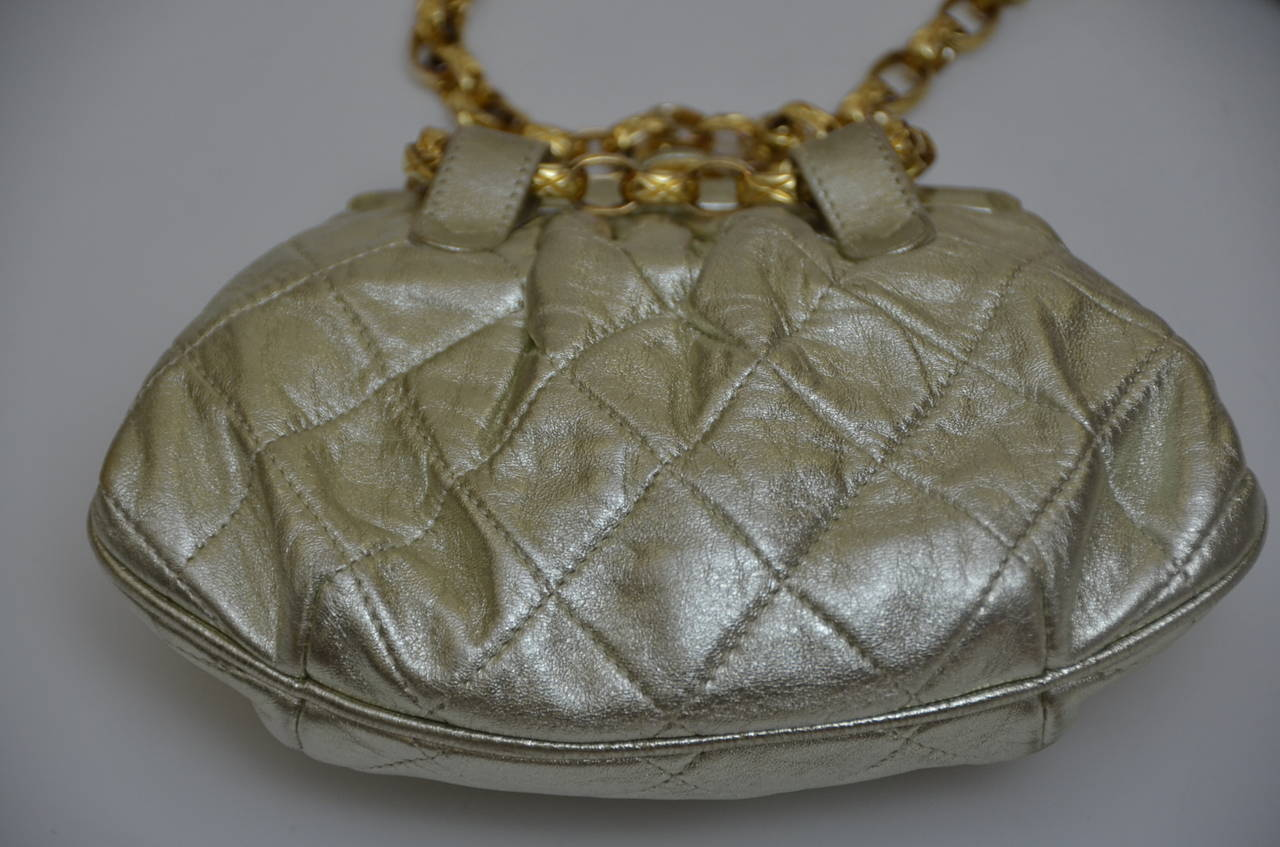 Vintage Chanel waist bag.Could be used as a clutch or evening bag.