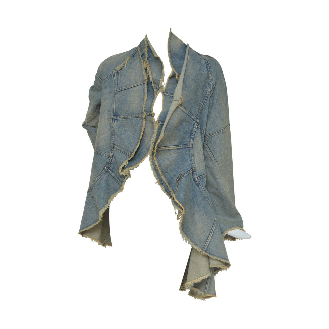 Junya Watanabe Comme Des Garcons Distressed Denim jacket  AD 2001  S 1