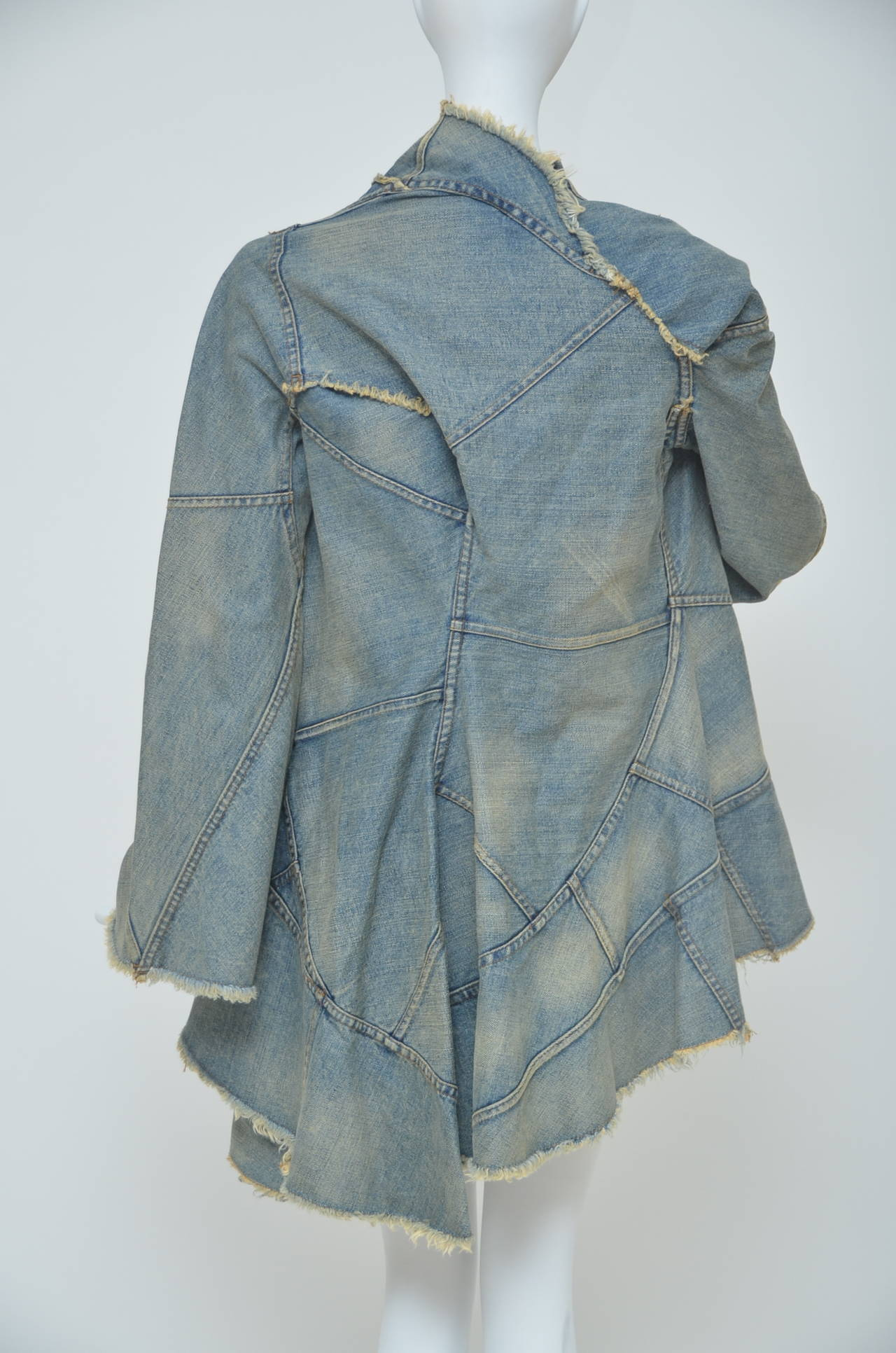 Junya Watanabe Comme Des Garcons Distressed Denim jacket  AD 2001  S 2