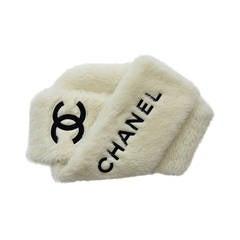 CHANEL  Vintage Faux Fur Large Scarf Stole
