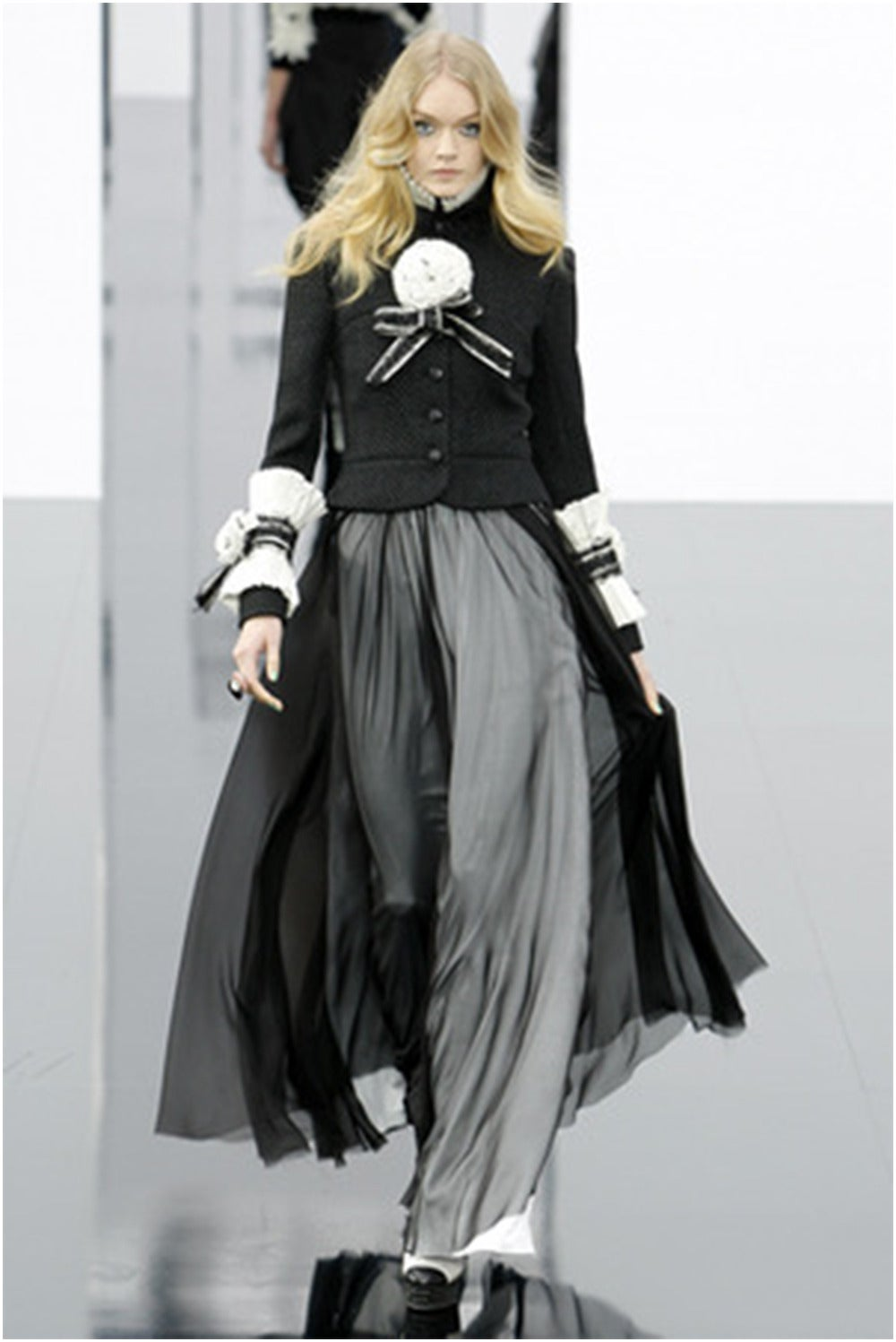 Chanel Most Wanted Runway And Chanel Add 09 Long Skirt