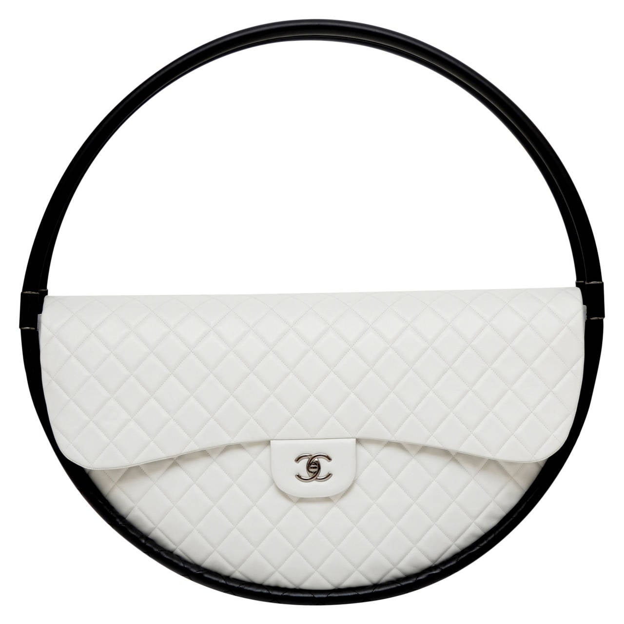 FOR DISPLAY ONLY CHANEL Hula Hoop Runway  X-LARGE Bag  Limited  S/S 2013 NEW 1