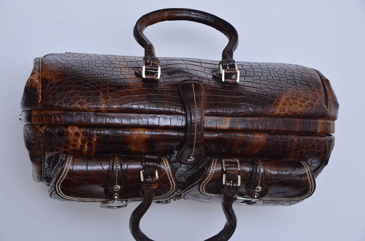 "John Galliano Dior '05 Luxury Limited Edit.""Voyage""Crocodile Handbag  $32,270 2"