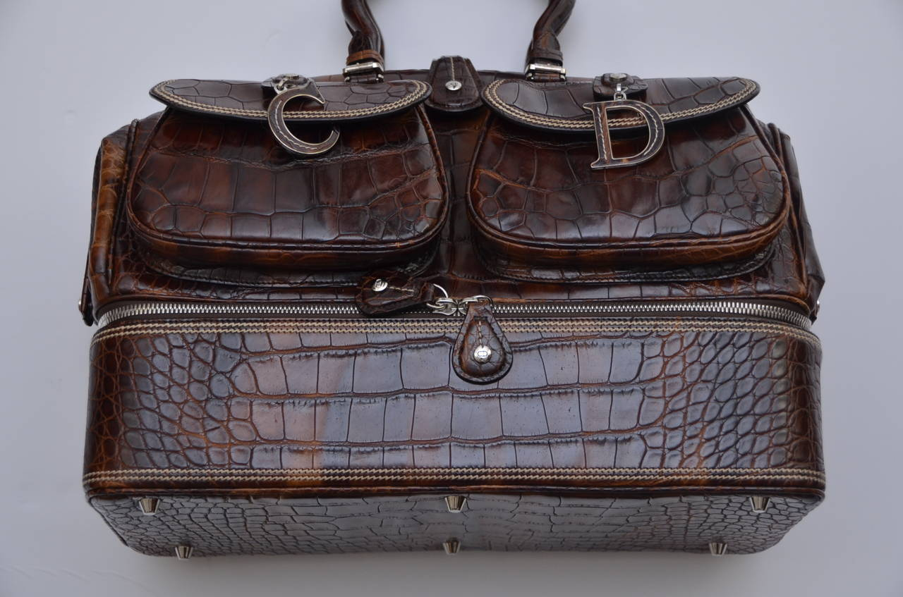 "John Galliano Dior '05 Luxury Limited Edit.""Voyage""Crocodile Handbag  $32,270 4"