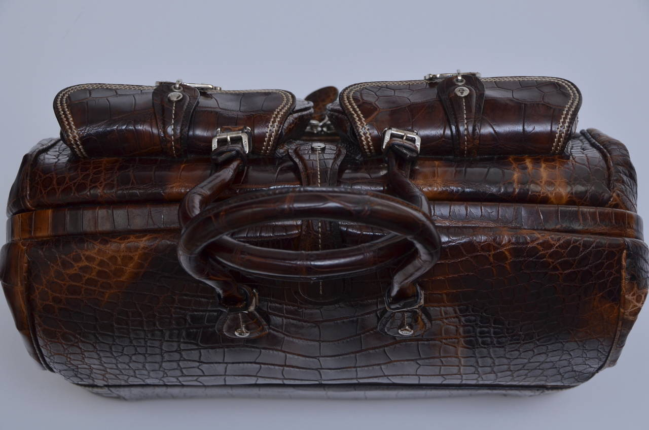 "John Galliano Dior '05 Luxury Limited Edit.""Voyage""Crocodile Handbag  $32,270 5"