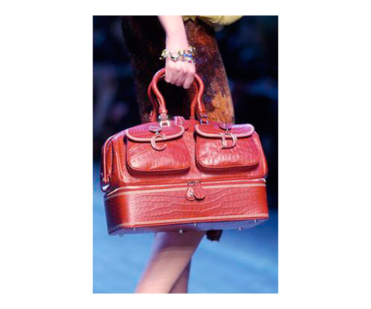 "John Galliano Dior '05 Luxury Limited Edit.""Voyage""Crocodile Handbag  $32,270 10"