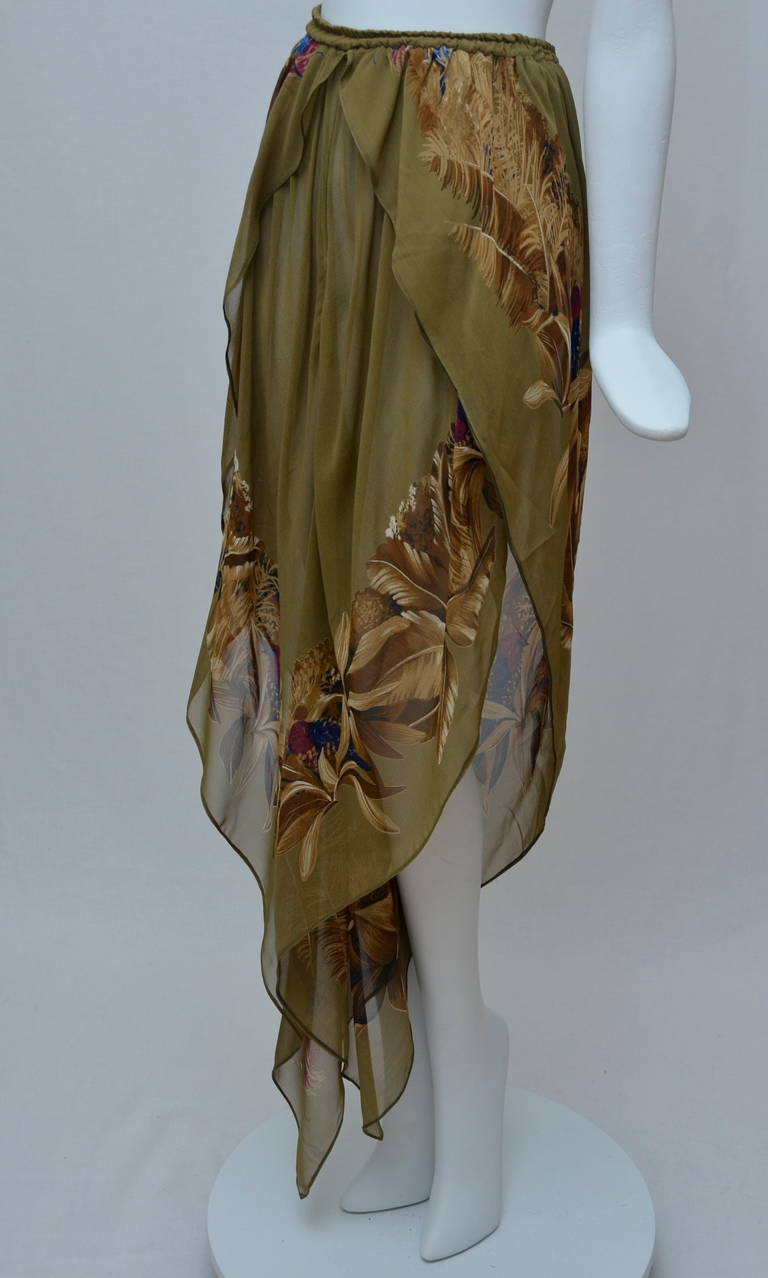 Early Gianni Versace Caftan Set Late  1970's 7