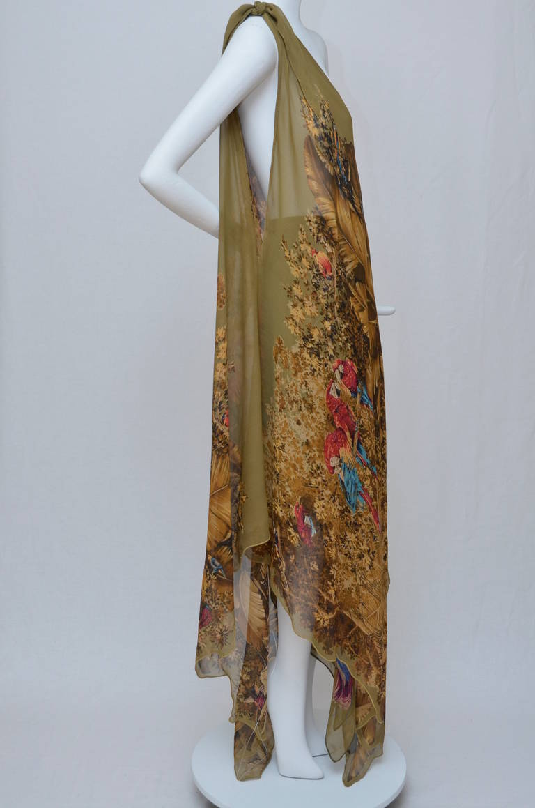 Early Gianni Versace Caftan Set Late  1970's 2