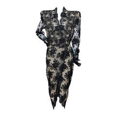 Alexander McQueen Lace Scalloped Edge  Tulip Dress New 46