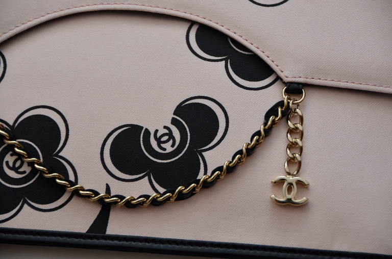 Chanel Camellia  Clutch Handbag 3