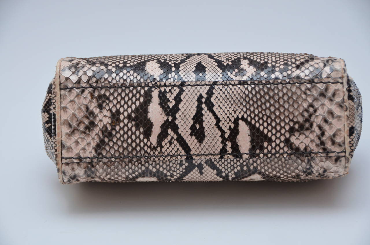 prada knapsack - Prada Nude/Brown Mix Color Python Clutch With Croc Trim New at 1stdibs