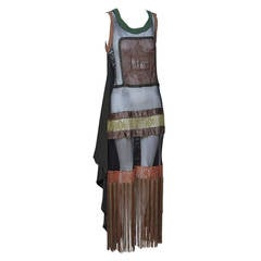 Jean Paul Gaultier Fringe Mesh Dress NEW