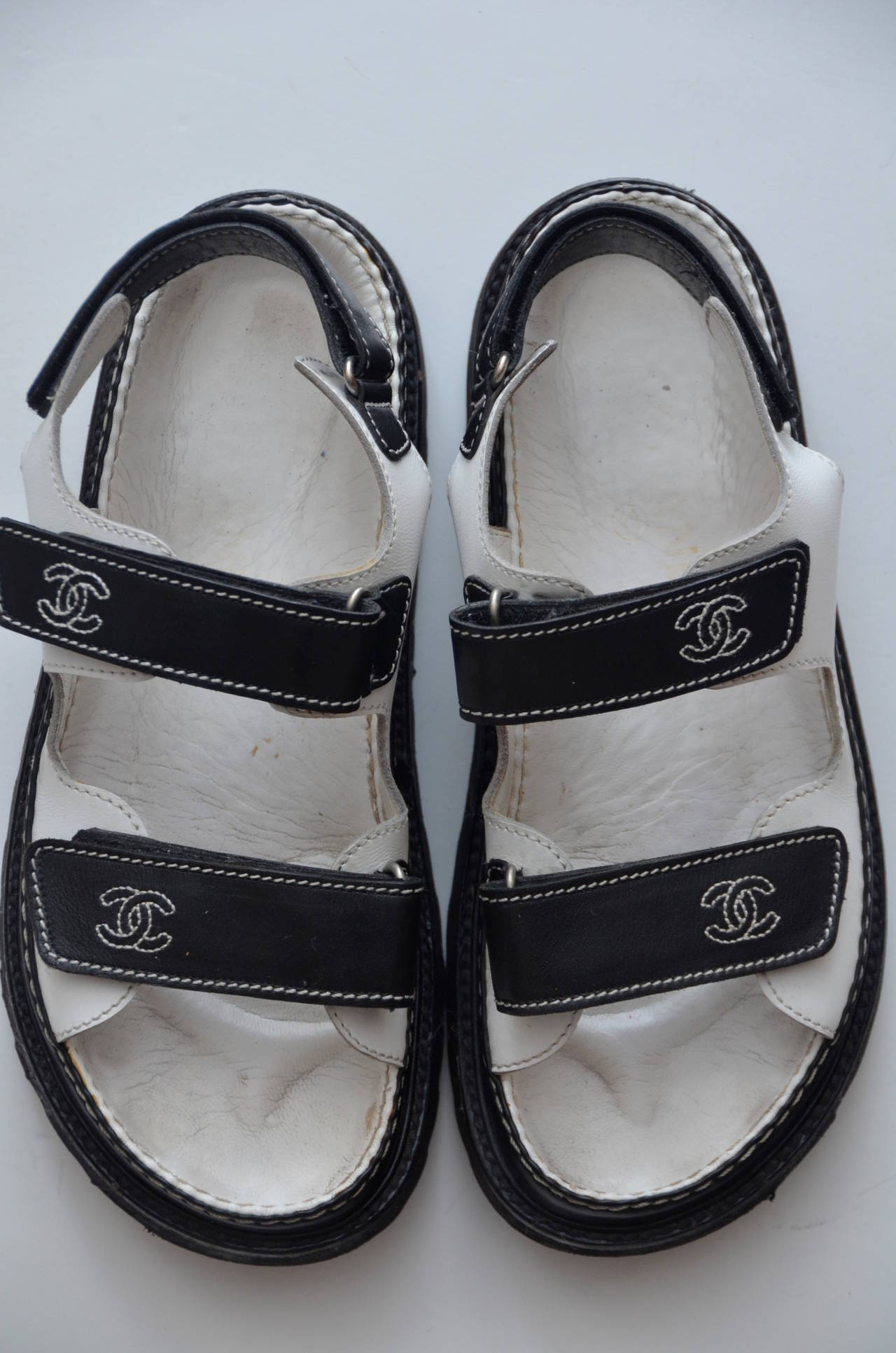 Chanel Quot Birkenstock Quot Sandals Shoes 38 At 1stdibs