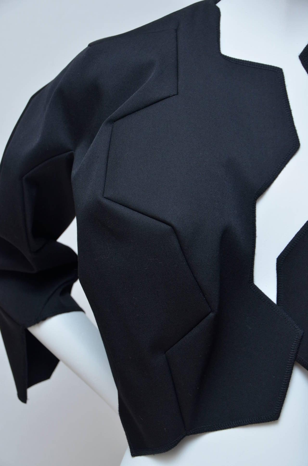 Black Comme Des Garcons Football Soccer Set Runway Jacket  and Skirt Ad 2008 For Sale